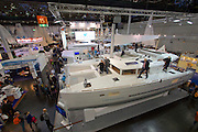 Düsseldorf, North Rhine Westphalia.<br /> Boot 2015 is the biggest fair related to yachting and maritime sports in the World.<br /> Sailing boats and catamarans.