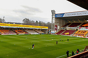 Preparations in full flow at Fir Park Stadium ahead of the Ladbrokes Scottish Premiership match between Motherwell and Heart of Midlothian, Motherwell, Scotland on 17th February 2019.