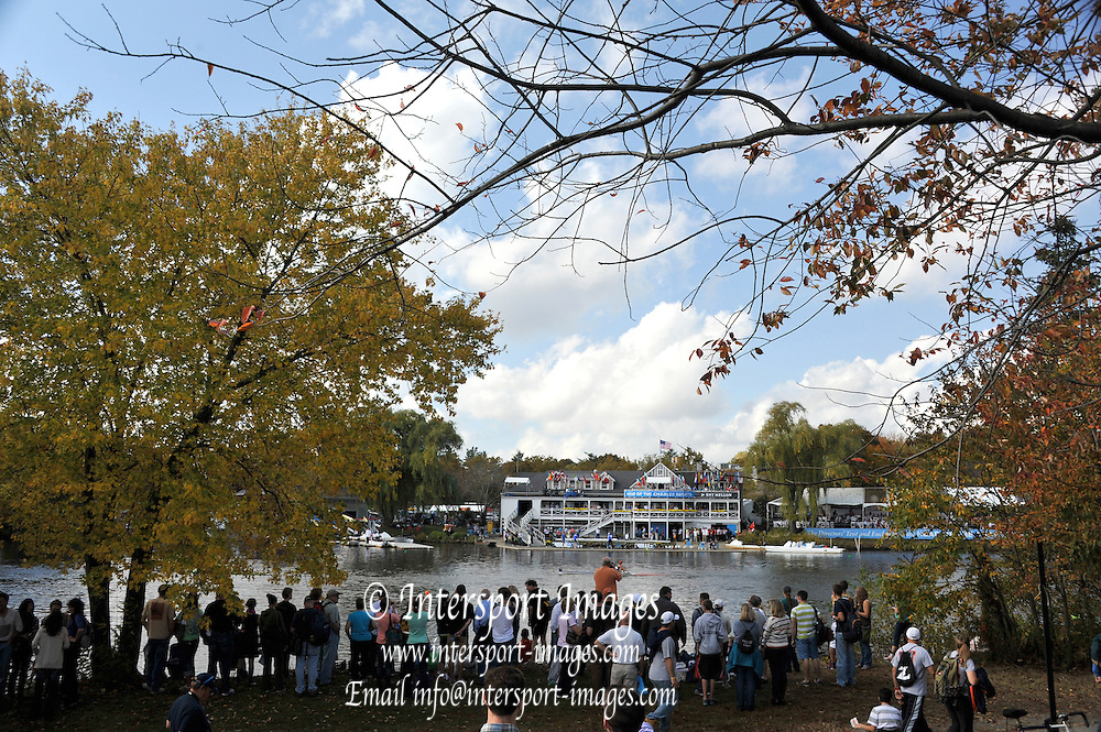 """Boston,  USA  ."""" 2012 Head of the Charles"""".  ..Description;  General views [GV's] Cambridge Boat House.  2012 Head of the Charles. Crews rowing past. ..16:28:21  Saturday  20/10/2012 ...[Mandatory Credit: Peter Spurrier/Intersport Images]"""