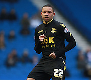 Bolton Wanderers striker Alves Wellington Silva during the Sky Bet Championship match between Brighton and Hove Albion and Bolton Wanderers at the American Express Community Stadium, Brighton and Hove, England on 13 February 2016. Photo by Bennett Dean.