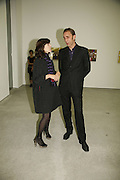 Bella Freud and Will Self, Work by Mexican artist, Gabriel Orozco. Gallery opening & private view at new White Cube space, 25-26 Mason's Yard, London and afterwards at Claridges. London. 27 September 2006. <br /> -DO NOT ARCHIVE-© Copyright Photograph by Dafydd Jones 66 Stockwell Park Rd. London SW9 0DA Tel 020 7733 0108 www.dafjones.com
