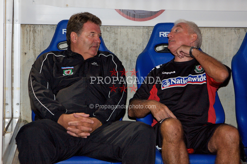 Nicosia, Cyprus - Saturday, October 13, 2007: Wales' manager John Toshack and assistant coach Roy Evans during the Group D UEFA Euro 2008 Qualifying match against Cyprus at the New GSP Stadium in Nicosia. (Photo by David Rawcliffe/Propaganda)