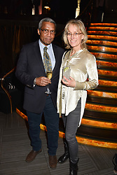 28 January 2020 - Hugh Quarshie and his wife Annika at the Costa Book Awards 2019 held at Quaglino's, 16 Bury Street, London.<br /> <br /> Photo by Dominic O'Neill/Desmond O'Neill Features Ltd.  +44(0)1306 731608  www.donfeatures.com