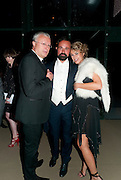 ALAEXANDER LEBEDEV; EVGENY LEBEDEV; ASSIA WEBSTER, Evgeny Lebedev and Graydon Carter hosted the Raisa Gorbachev charity Foundation Gala, Stud House, Hampton Court, London. 22 September 2011. <br /> <br />  , -DO NOT ARCHIVE-© Copyright Photograph by Dafydd Jones. 248 Clapham Rd. London SW9 0PZ. Tel 0207 820 0771. www.dafjones.com.