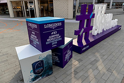 FEI Logo<br /> Göteborg - Gothenburg Horse Show 2019 <br /> Longines FEI Jumping World Cup™ Final and FEI Dressage World Cup™ Final<br /> 04. April 2019<br /> © www.sportfotos-lafrentz.de/Stefan Lafrentz