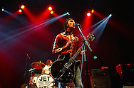 JAMES BOARDMAN / 07967642437 - 01444 412089 ..Nic Cester and drummer Chris Cester of Jet perform a one off show at the Carling Brixton Acadamy in London. .. ..