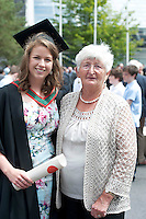 16/06/2014 Dr. Kate Dineen who received a Bachelor of Medicine from NUI Galway with her Nan Bride Dineen from Doughlas in Co. Cork. Photo:Andrew Downes