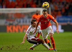 16-11-2014 NED: EK Kwalificatie Nederland - Letland, Amsterdam<br /> Nederland wint in de Arena met 6-0 van Letland / Ibrahim Afellay