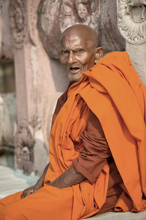 Old monk at Mahabodhi Temple
