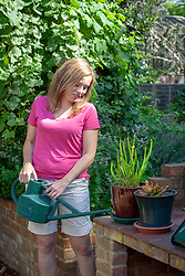 Watering carniverous pot plants