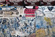 Frankrijk, Lille, 18-8-2013Affiches als protest tegen de homohaat, homofobie. Lille ligt in een sterk de verarmde regio noordwest. Het is de hoofdstad van Frans Vlaanderen, van de regio Nord Pas de Calais en van het Noorder departement. Homo,homofilie,homohuwlijk,anti,pro,tollerant,seksuele,voorkeur,geaardheidFoto: Flip Franssen/Hollandse Hoogte