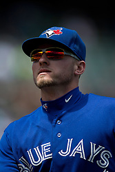 OAKLAND, CA - JULY 23:  Josh Donaldson #20 of the Toronto Blue Jays returns to the dugout during the fourth inning against the Oakland Athletics at O.co Coliseum on July 23, 2015 in Oakland, California. The Toronto Blue Jays defeated the Oakland Athletics 5-2. (Photo by Jason O. Watson/Getty Images) *** Local Caption *** Josh Donaldson