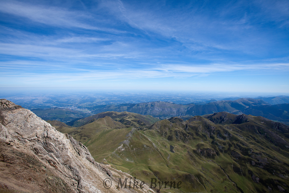 From the French Pyrenees, looking out toward the Midi-Pyrenees.
