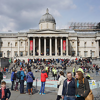 Trafalgar square preparing for the first London Games Festival