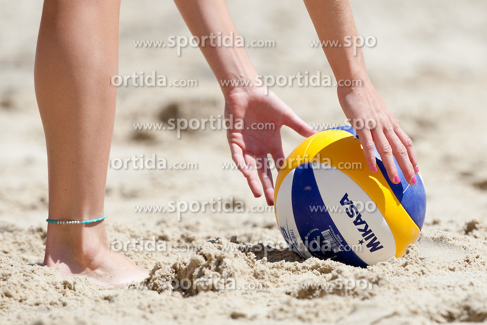 Ball at A1 Beach Volleyball Grand Slam presented by ERGO tournament of Swatch FIVB World Tour 2012, on July 17, 2012 in Klagenfurt, Austria. (Photo by Matic Klansek Velej / Sportida)
