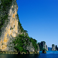 Limestone Island Towers, Halong Bay, Vietnam