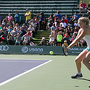 March 7, 2015, Indian Wells, California:<br /> Coco Vandeweghe plays a tiebreaker during Kids Day at the Indian Wells Tennis Garden in Indian Wells, California Saturday, March 7, 2015.<br /> (Photo by Billie Weiss/BNP Paribas Open)
