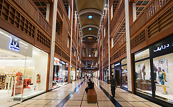 Interior of new World Trade Center Mall in Abu Dhabi United Arab Emirates