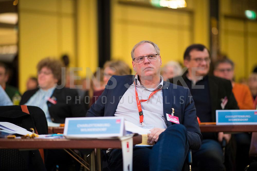 DEU, Deutschland, Germany, Berlin, 17.11.2018: Landesparteitag der Berliner SPD im Hotel Maritim. Robert Drewnicki (SPD), Leiter des Referats Politische Grundsatzangelegenheiten in der Senatskanzlei, engster Berater des Regierenden Bürgermeisters von Berlin.