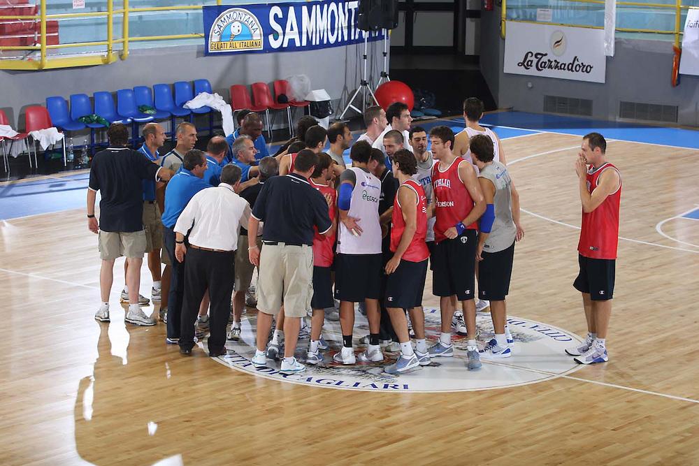 Cagliari, 04/08/2009<br /> Allenamenti Nazionale Italiana Maschile Senior<br /> Nella foto: team<br /> Foto Ciamillo