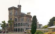 Panoramic view of Larnach Castle (The Camp), Otago Peninsula, near Dunedin, Otago, New Zealand