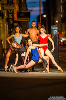 Streets of New York City Dance As Art Photography with the Dance As Art Dancers, Ashley Whitson, Angelica Viana, Maja Bakija, Jenna MacVicar, and Daniel White