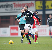 Dundee&rsquo;s Marcus Haber  - Dundee v St Mirren in the William Hill Scottish Cup at Dens Park, Dundee. Photo: David Young<br /> <br />  - &copy; David Young - www.davidyoungphoto.co.uk - email: davidyoungphoto@gmail.com