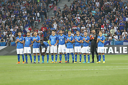 June 1, 2018 - Nice, France - The Italian National team before the friendly football match between France and Italy at Allianz Riviera stadium on June 01, 2018 in Nice, France. (Credit Image: © Massimiliano Ferraro/NurPhoto via ZUMA Press)