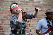 Anya and the Getdown perform on the Lightson stage during Left Coast Live in Downtown San Jose, Calif., Oct. 8, 2011.  Photo by Stan Olszewski/SOSKIphoto