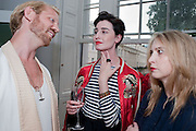 ALISTAIR GUY; ERIN O' CONNOR; DAISY DE VILLENEUVE, ERIN O' CONNOR, Elizabeth Arden.-100th anniversary party. 33 Fitzroy Square, London W1, 29 June 2010. DO NOT ARCHIVE-© Copyright Photograph by Dafydd Jones. 248 Clapham Rd. London SW9 0PZ. Tel 0207 820 0771. www.dafjones.com.