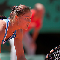 31 May 2009:  Dinara Safina of Russia is seen during the Women's Singles fourth round match on day eight of the French Open at Roland Garros in Paris, France.