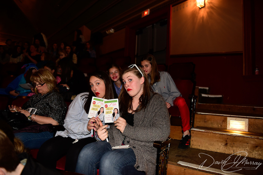 Fans gather befoe the Miranda Sings show at The Music Hall in Portsmouth NH, April 23, 2015