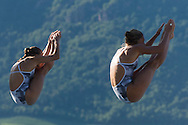 CAGNOTTO Tania DALLAPE' Francesca ITA gold medal<br /> Bolzano, Italy <br /> 22nd FINA Diving Grand Prix 2016 Trofeo Unipol<br /> Diving<br /> Women's 3m synchronised springboard final <br /> Day 01 15-07-2016<br /> Photo Giorgio Perottino/Deepbluemedia/Insidefoto