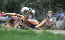 03.09.2013, Mladost Stadion, Zagreb, CRO, IAAF World Challenge, Boris Hanzekovic memorial 2013, im Bild triple jump // during Boris Hanzekovic memorial 2013 of IAAF world challenge at Mladost Stadium in Zagreb, Croatia on 2013/09/03. EXPA Pictures © 2013, PhotoCredit: EXPA/ Pixsell/ Sanjin Strukic<br /> <br /> ***** ATTENTION - for AUT, SLO, SUI, ITA, FRA only *****