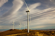 Wind turbines at wind farm in eastern Washington