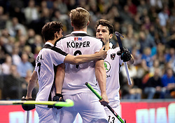 BERLIN - Indoor Hockey World Cup<br /> Quarterfinal 2: Austria - Poland<br /> foto: Michael K&ouml;rper scored the winning.<br /> WORLDSPORTPICS COPYRIGHT FRANK UIJLENBROEK