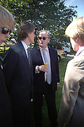 Viscount Gormanston. Marriage of Emilia Fox to Jared Harris. St. Michael's and All Angels. Steeple. Nr. Wareham. Dorset. 16 July 2005. ONE TIME USE ONLY - DO NOT ARCHIVE  © Copyright Photograph by Dafydd Jones 66 Stockwell Park Rd. London SW9 0DA Tel 020 7733 0108 www.dafjones.com