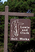 Sign at the historic Lewis and Clark Salt Works in Seaside, Fort Clatsop National Memorial, Oregon