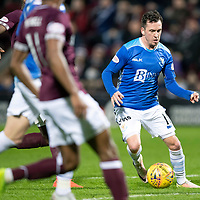 Hearts v St Johnstone…26.01.19…   Tynecastle    SPFL<br />Danny Swanson weaves his way into the penalty box<br />Picture by Graeme Hart. <br />Copyright Perthshire Picture Agency<br />Tel: 01738 623350  Mobile: 07990 594431