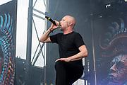 Meshuggah perform on May 5, 2019 at Metropolitan Park in Jacksonville, Florida (Photo: Charlie Steffens/Gnarlyfotos)