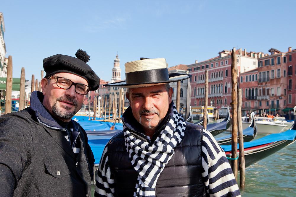 Italia - Italien - Venezia, Venedig - Gondolieri; Paolo Agostino dalla Pietà, Gondoliere ; Canale Grande,12.02.2014; © Christian Jungeblodt