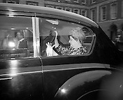 19/06/1969<br /> 06/19/1969<br /> 19 June 1969<br /> General Charles de Gaulle leaves Dublin Castle for Dublin Airport. Madame de Gaulle pictured in the car prior to leaving for the airport after their holiday in Ireland.