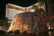 USA, Nevada, Las Vegas, Night photography Mirage hotel and casino