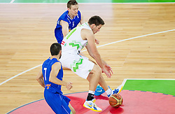 Matej Krusic of Slovenia during basketball match between National teams of Slovenia and Bosna and Herzegovina in day 1 of Adecco cup, on August  3, 2012 in Arena Stozice, Ljubljana, Slovenia. (Photo by Vid Ponikvar / Sportida.com)