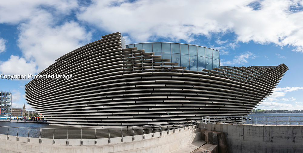 Exterior of the new V&A Museum in Dundee, Scotland, UK