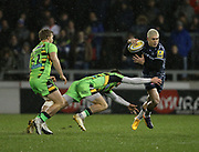 James O'Connor breaks during the Aviva Premiership match between Sale Sharks and Northampton Saints at the AJ Bell Stadium, Eccles, United Kingdom on 25 November 2017. Photo by George Franks.