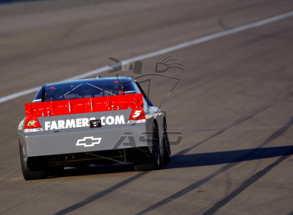 LAS VEGAS, NV - MAR 09, 2012:  Kasey Kahne (5) qualifies for the Kobalt Tools 400 race at the Las Vegas Motor Speedway in Las Vegas, NV.