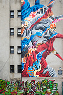Liberty Street Art By Tristan Eaton at Mulberry Street In Little Italy ,New York City