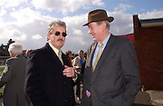 John Challis and Tim Hales. Ludlow Charity Race Day,  in aid of Action Medical Research. Ludlow racecourse. 24 march 2005. ONE TIME USE ONLY - DO NOT ARCHIVE  © Copyright Photograph by Dafydd Jones 66 Stockwell Park Rd. London SW9 0DA Tel 020 7733 0108 www.dafjones.com