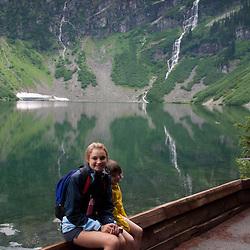 Olivia at Rainy Lake, North Cascades National Park, Washington, US